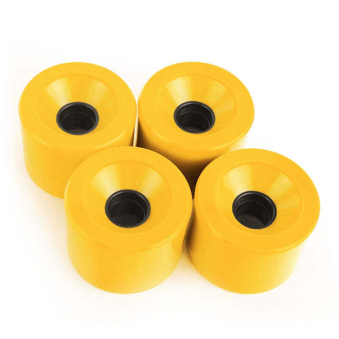 Pro Cruiser Wheels On Normal Skateboard 60mm 78A Yellow - Pavoz
