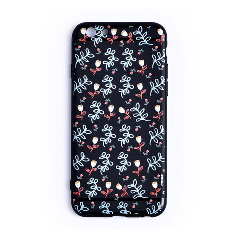 Personalized Hard Plastic Case For iPhone 6/6s Flowers - Pavoz