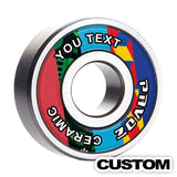 Pro Best Skateboard Bearings Ceramic High Speed No Rust ABEC-7 Custom V2.0