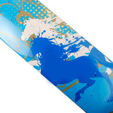 Skateboard Deck Art White Horses Hand Painted Deck 32X8 - Pavoz
