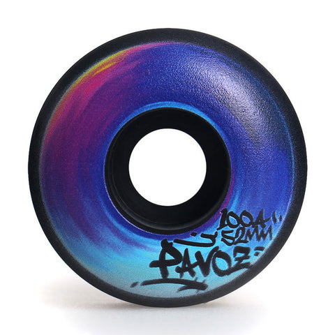 Skateboard Wheels On Sale 52mm 100A  Rainbow 2 Black - Pavoz