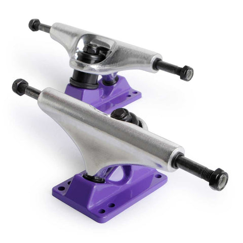 Skateboard Trucks For Sale 8 Mid Profile Silver Purple 1 Pair