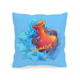 Throw Pillow Fashion Design Cushion 45x45 AQUARIUS Included Inner Pack Easy Custom