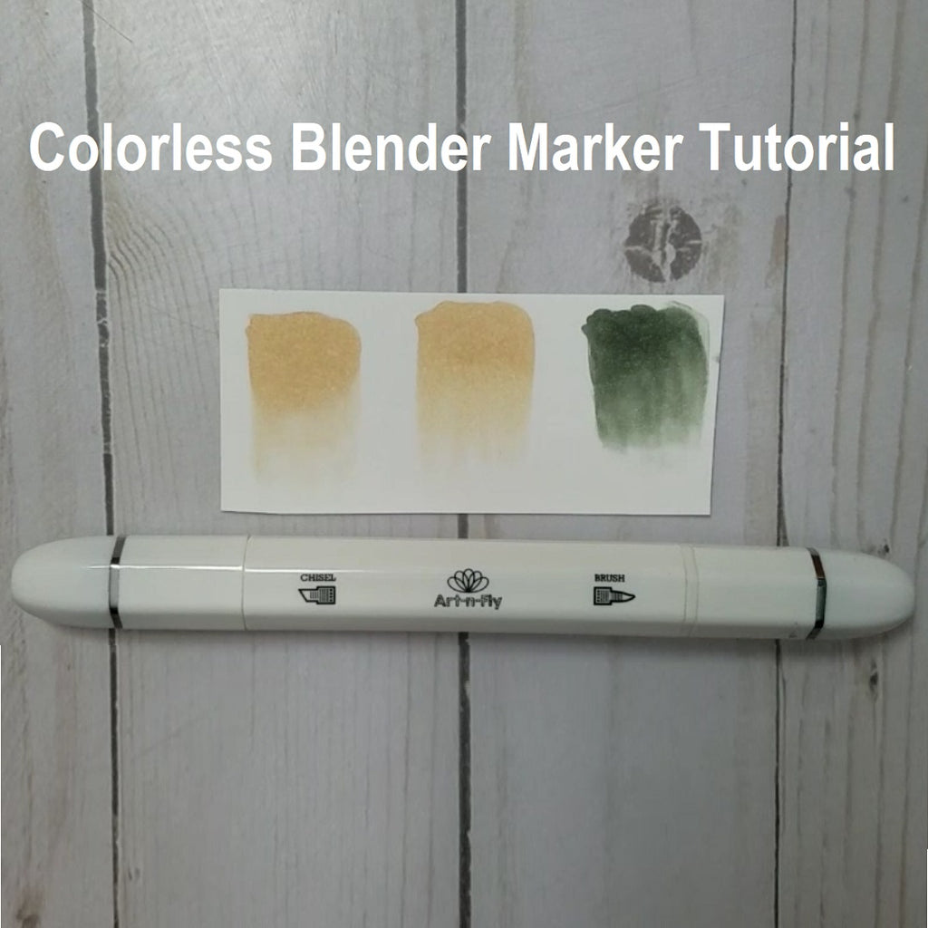 Blender marker techniques - How to use a colorless blender marker