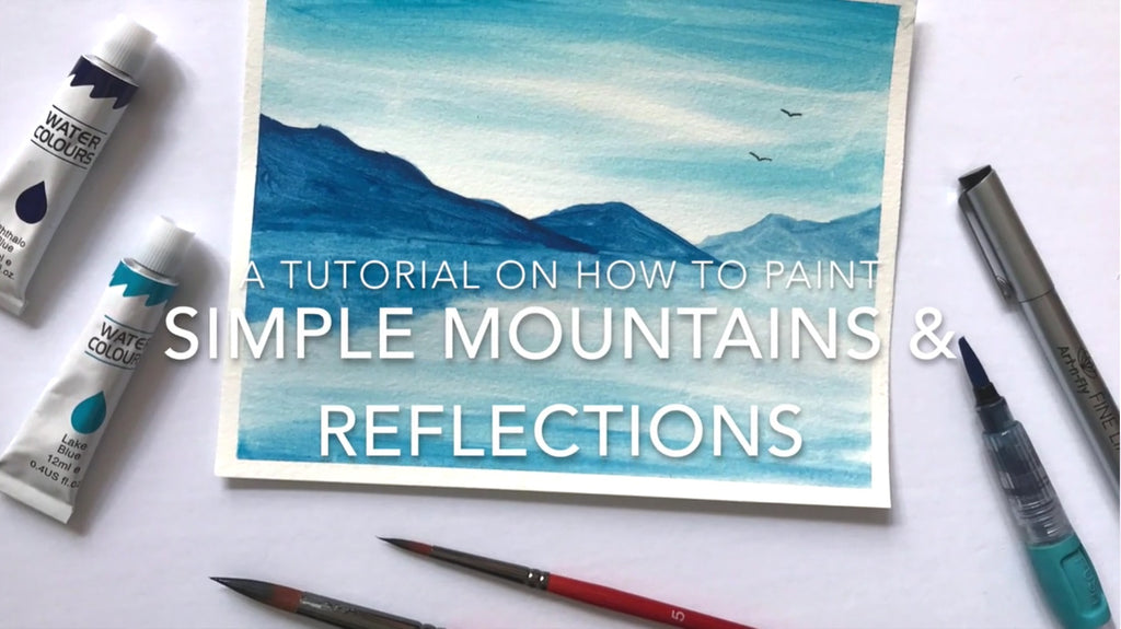 How to paint reflections with watercolor video tutorial