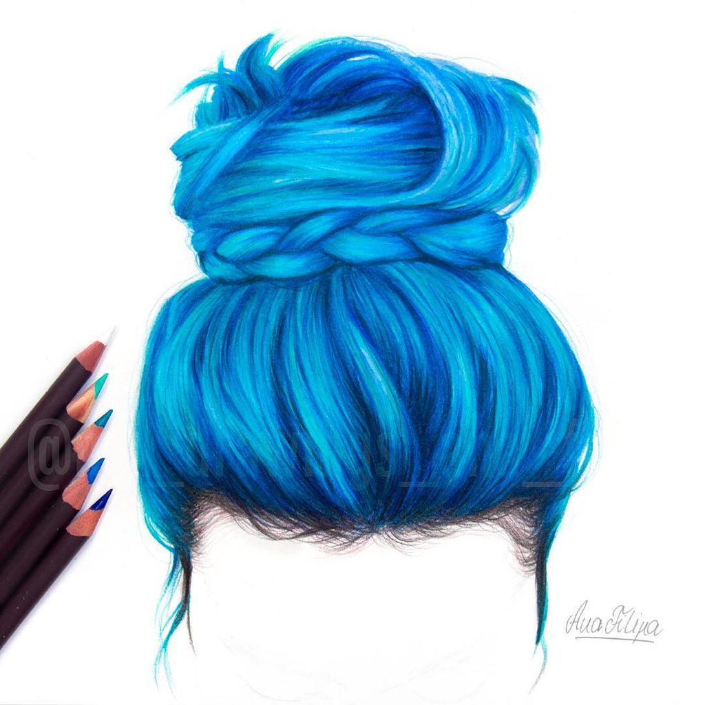 How To Draw Blue Hair with Art-n-Fly Markers and Pencils