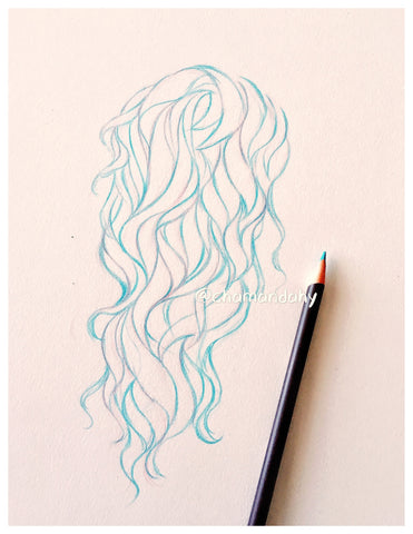 Drawing hair with markers. Hair drawing tutorial