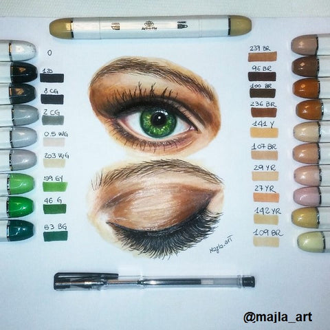 Art-n-Fly Skin tone sketch markers for drawing illustration