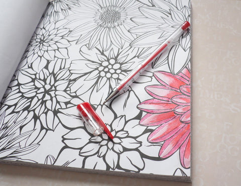 4 Gel Pen Techniques to Use in Your Adult Coloring Books