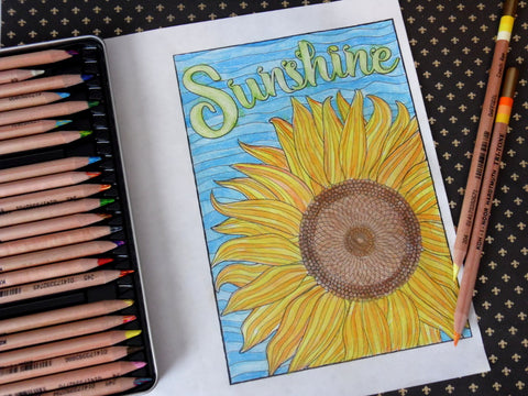 When to Color with Pencil and When to Color with Pen