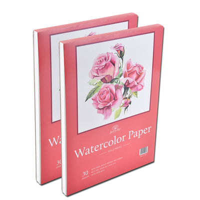 2-Pack 30 Sheets 9 X 12 Cold Press Watercolor Paper 140lb/300gsm