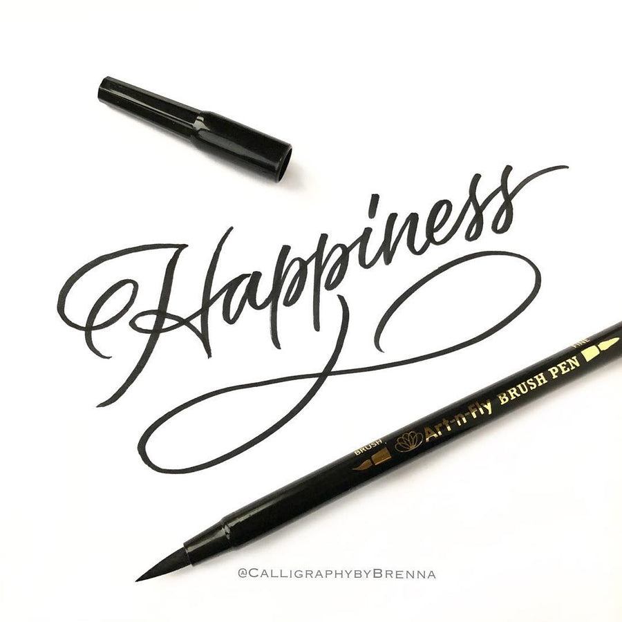 3 Dual Tip Black Brush Lettering Pens