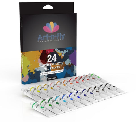 Oil paint set 24 colors artist grade paint