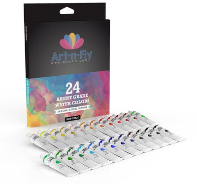 Watercolor set of 24 artist grade water colors paint