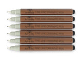Sepia Fine Tip Inking Pens Pigment Liner Pen Archival Ink Fineliner for Illustration Sketching Drawing Comic Manga