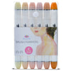 Brush Nib Markers Skin Tone - Set of 6 Dual Tip Markers