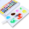 40 Watercolor Set Includes Water Brush, Sponges and Mixing Palette