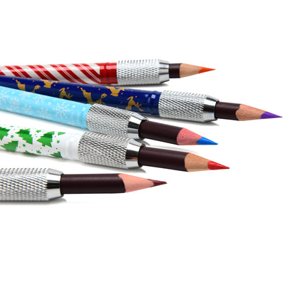 Special-Edition Holiday Pattern Pencil Extenders