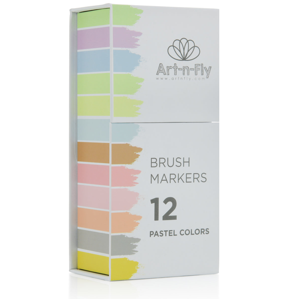 Pastel Tone Brush Tip Markers - Set of 12
