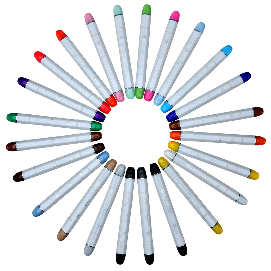 Classic Tip Sketch Markers 24 Colors with Blender Marker