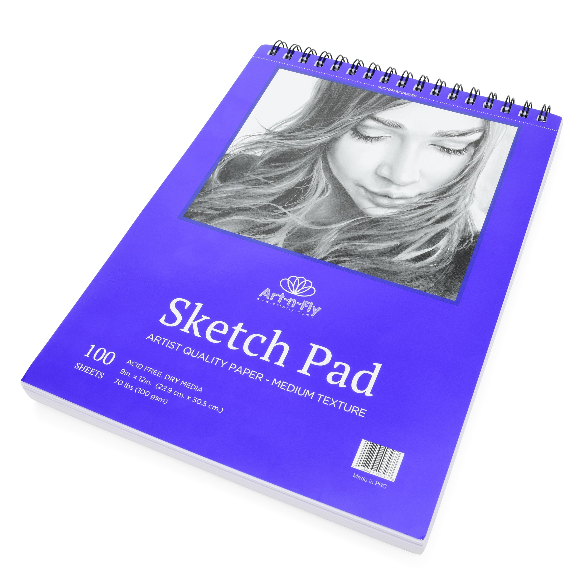 100 Sheets 9 X 12 Inch Sketch Pad Textured Surface