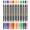 15 Set Colored Dual-Tip Calligraphy Pens