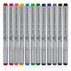 12 Colored 03 Fine Tip Color Inking Pens For Drawing Archival Waterproof Ink Pen Fineliner Sketching Pens for Artist Drafting Manga Pens Writing