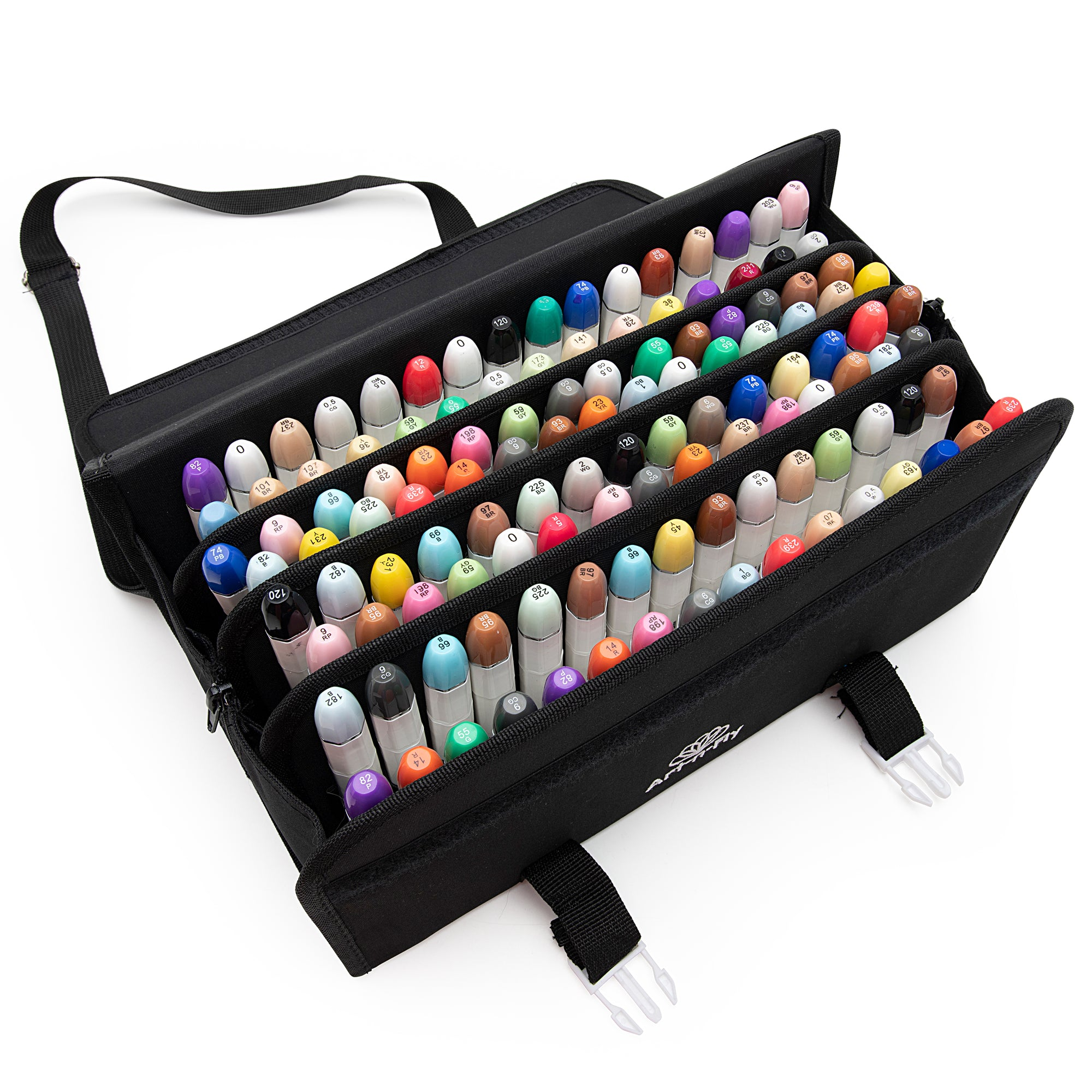 Art N Fly 120 Marker Storage Case Zippered Pouch Zipper Sides And Ve