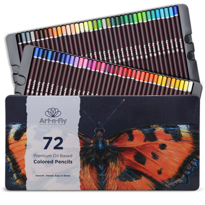 Oil Based Colored Pencils - 72 Colors