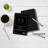 "Art-n-Fly Black 5.5"" x 8.5"" Sketch Pad Mini: Two Book of Crisp Black Perforated Paper on Spiral"