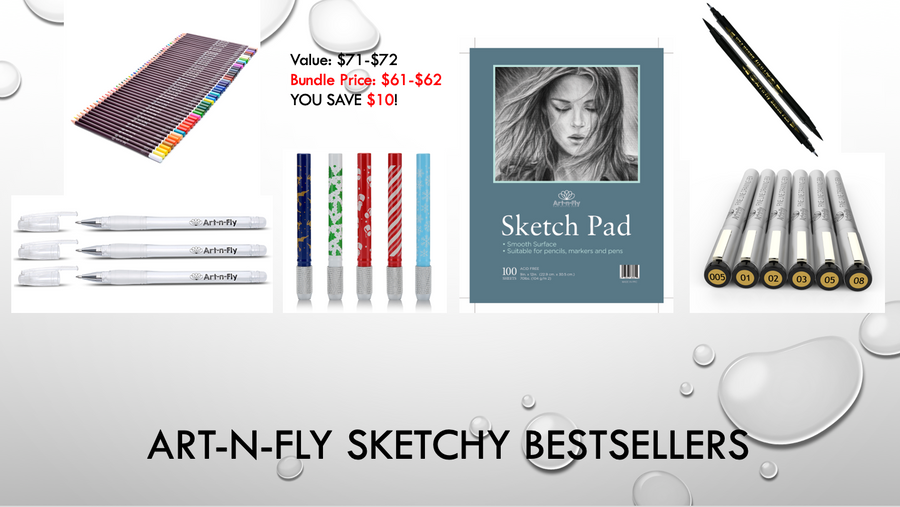 Art-n-Fly Sketchy Bestsellers
