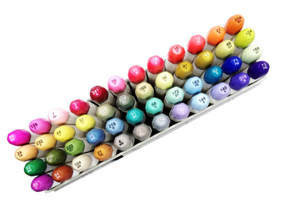 48 Refillable Brush Alcohol Marker BOOSTER set