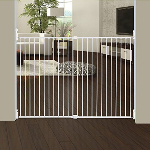 Dreambaby® Broadway Metal Gro-Gate Xtra-Wide White