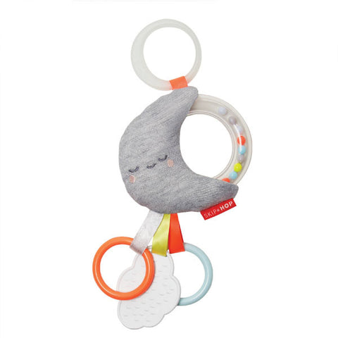 Skip Hop Silver Lining Rattle Stroller Toy Moon
