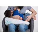 Feeding Friend- The Original Self-Inflating Arm Support Pillow - Baby Blue