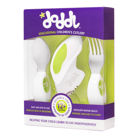 Doddl Cutlery Set Blueberry Green