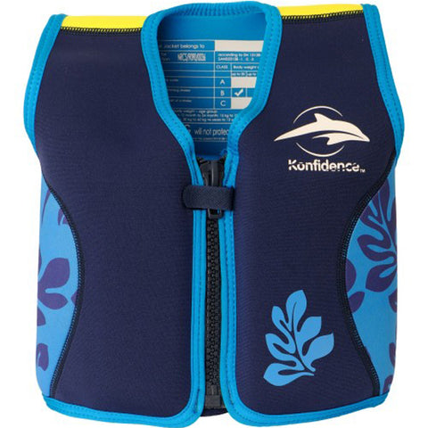 Konfidence Jacket - Buoyancy Aid for Swimming with Removeable Floats 2 - 3 yrs