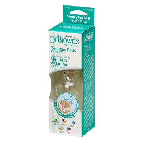 Dr Brown's 4oz Glass Baby Bottle