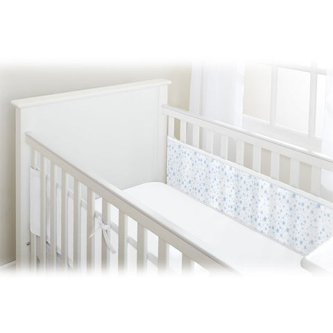 BreathableBaby 2 SIDED MESH LINER - TWINKLE TWINKLE, White with Blue Stars