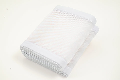 BreathableBaby Airflow 4 Sided Mini Cot Mesh Liner - White Matte Finish