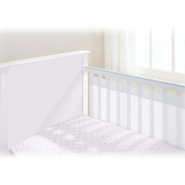 BreathableBaby Airflow 2 Sided Cot Mesh Liner - White