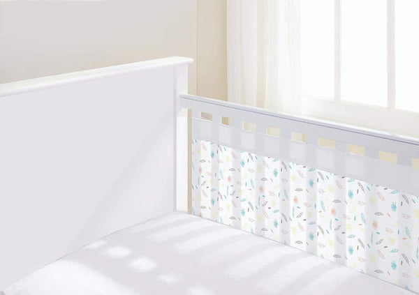 BreathableBaby Airflow 2 Sided Cot Mesh Liner - Marabou Print