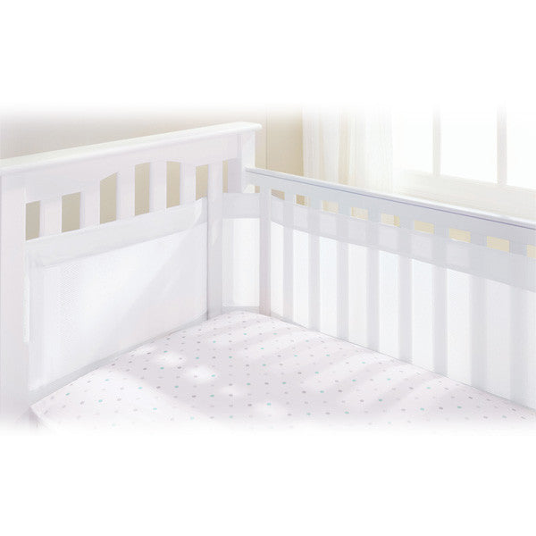 BreathableBaby Airflow 4 Sided Cot Mesh Liner - White