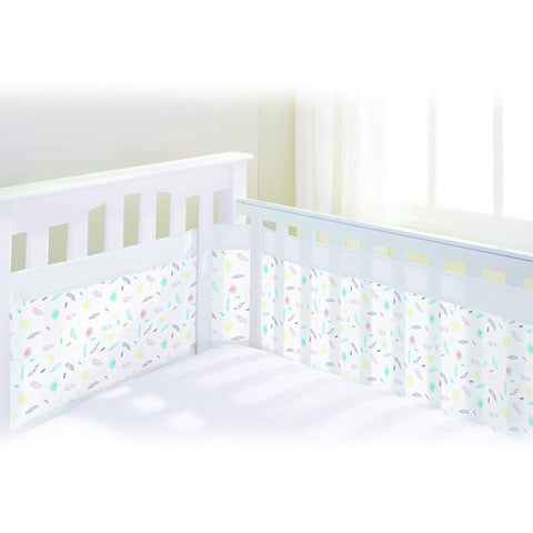 BreathableBaby Airflow 4 Sided Cot Mesh Liner - Marabou Print