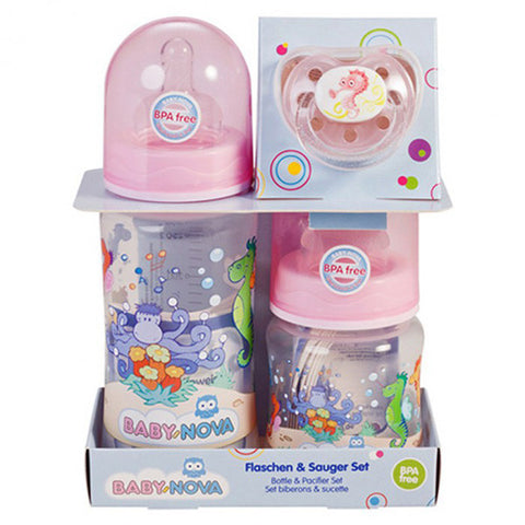 Baby Nova Bottle& pacifier set,150 ML, 300 ML pp wide neck