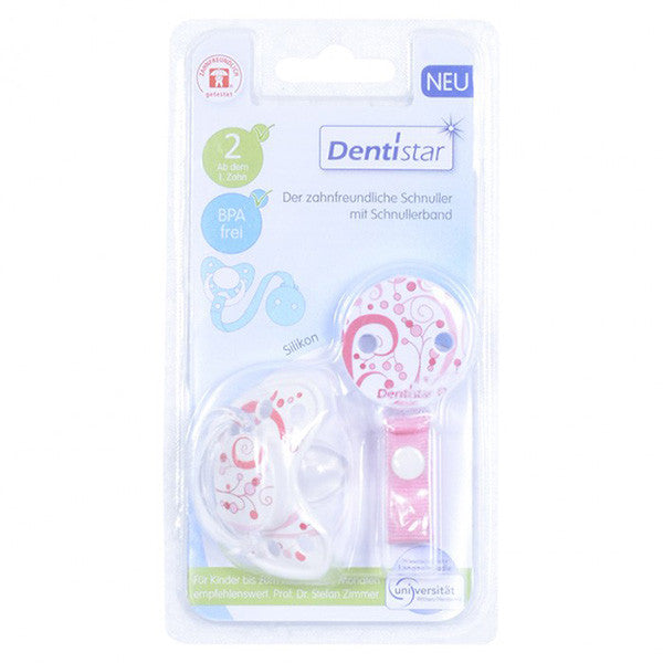 Baby Nova Silicon Pacifier- Dentistar with baglet and shield