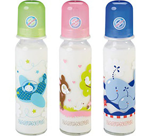 Baby Nova Decorated Bottle Glass 240 ML