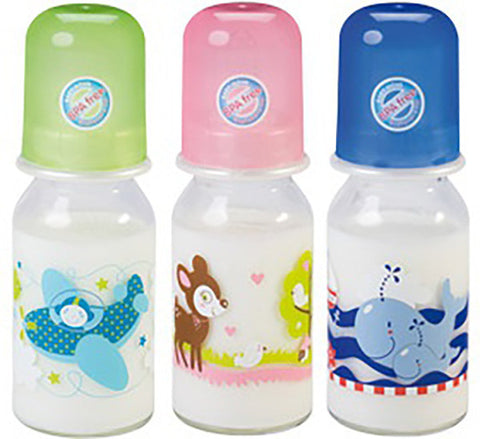 Baby Nova Glass Bottel Decorated Assorted 125 ML