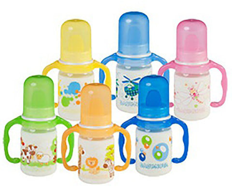 Baby Nova Decorated PP Bottle with handle Ass motives 125 ML
