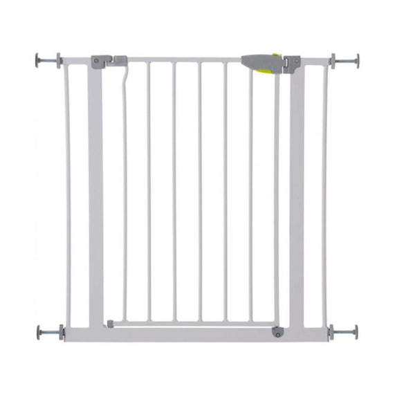Hauck Squeeze Handle Gate(75 - 80 cm) +  (7 cm) Extension / White